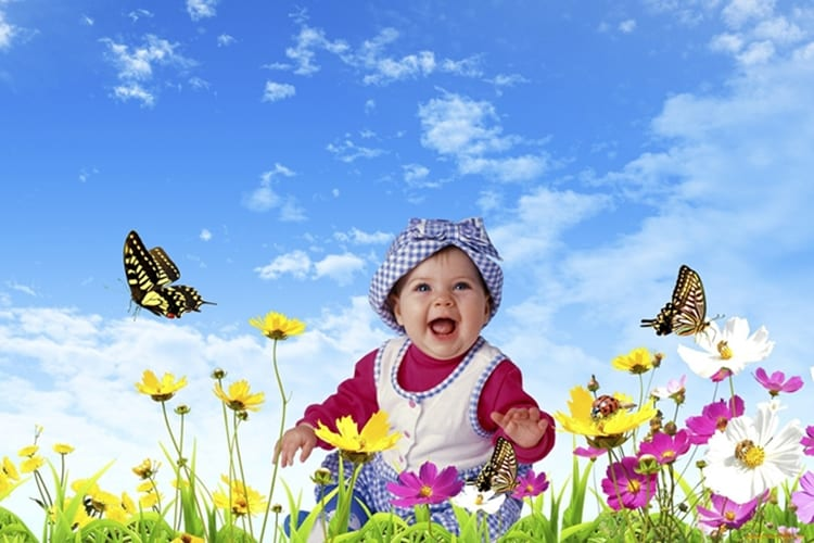 child_nature_boy_smile_happy_sky_flowers_butterflies_68116_1920x1200
